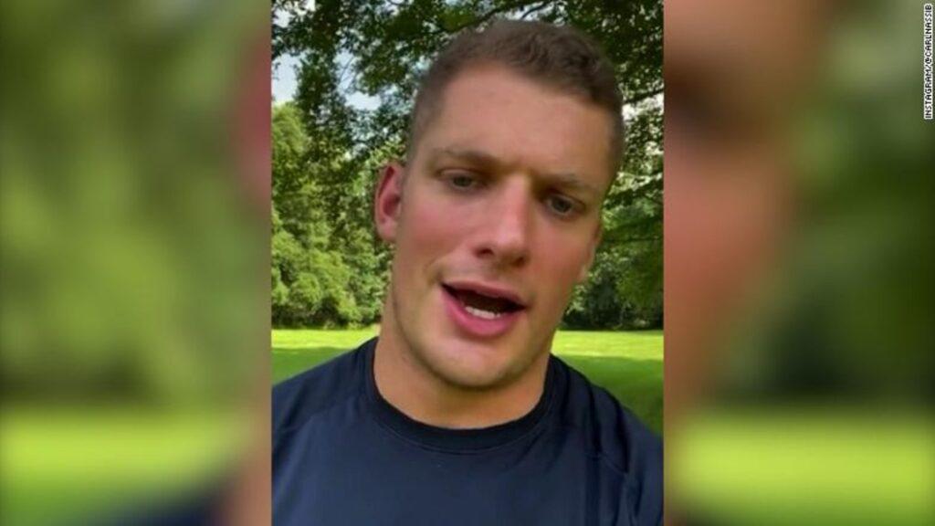 Amerikanskfodboldspillerstår frem somhomoseksuel